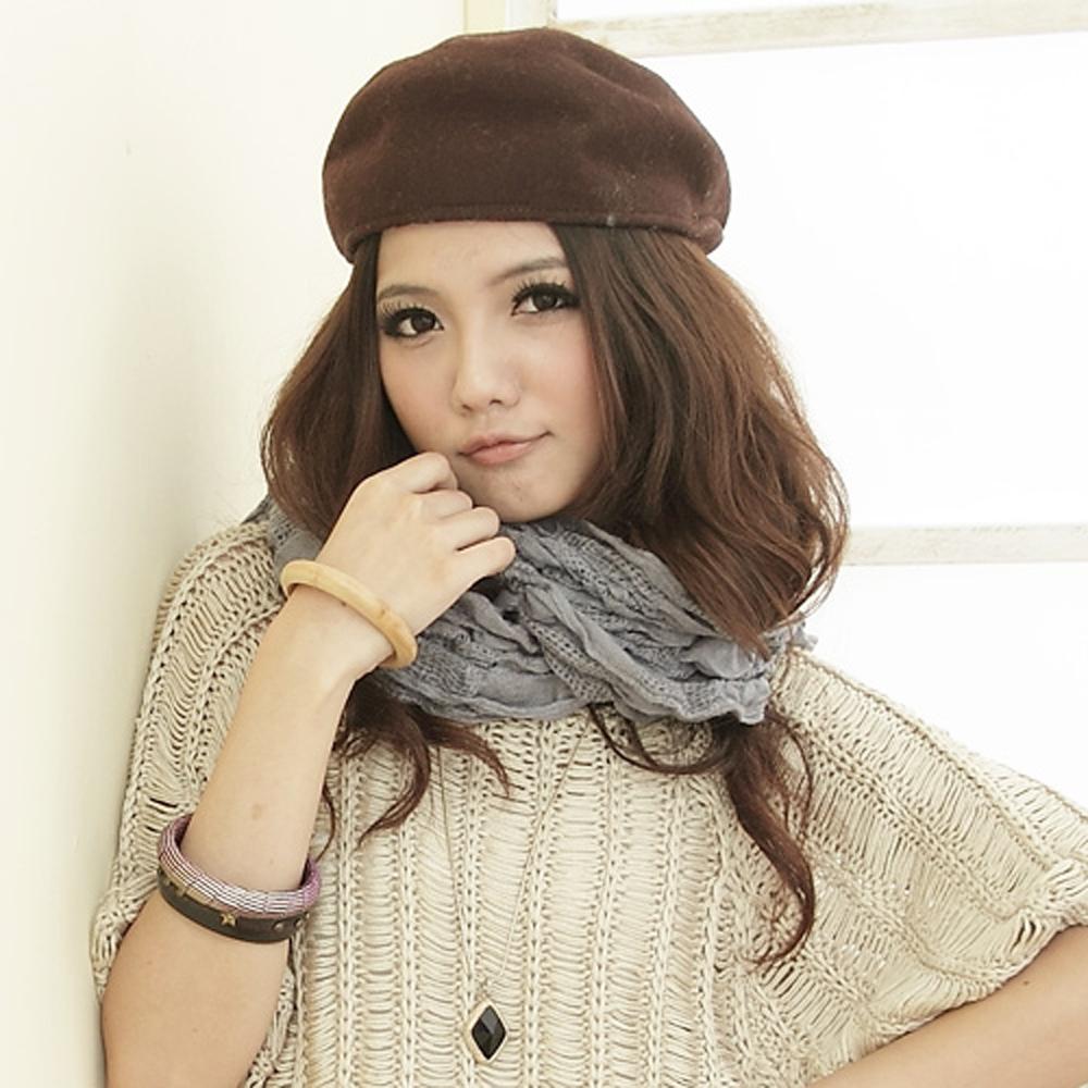 【I-shi】暖呼呼~雙格混織厚款圍巾(灰)