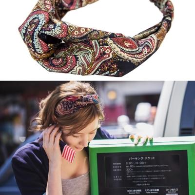 梨花HaNA-韓國小法式變型蟲圖騰絲緞髮帶