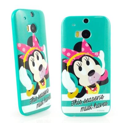 Disney HTC One (M8) 時尚彩繪米妮保護套