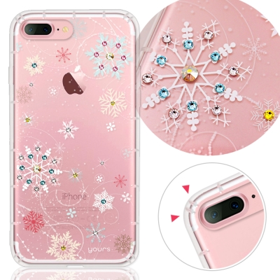 YOURS APPLE iPhone7 Plus 奧地利水晶彩繪防摔氣墊手機鑽殼-雪戀