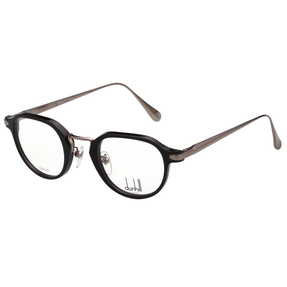Dunhill  純鈦 復古 光學眼鏡 (黑+槍色)VDH042