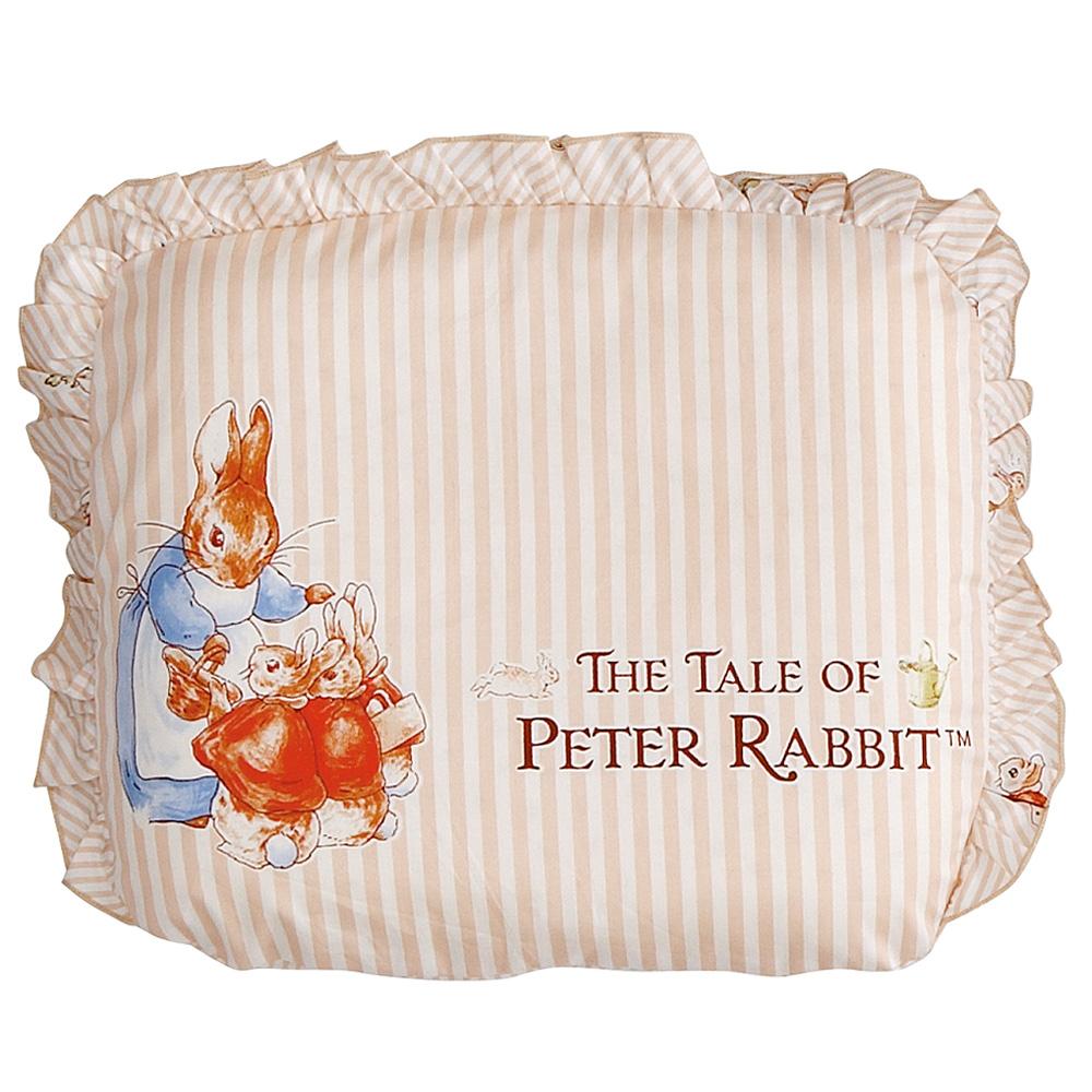 比得兔田園童趣-乳膠圓型枕枕套(2入)+枕心