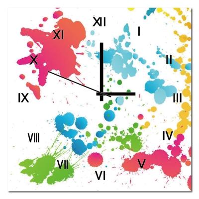 美學365-單聯式水彩風無框藝術時鐘-隨意-30x