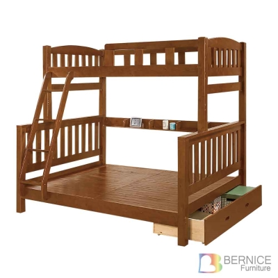 Bernice-喬德全實木抽屜雙層床架