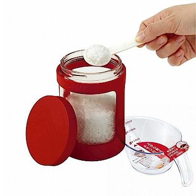 日本ASVEL完全密閉470ml玻璃調味罐+300ml耐熱量杯