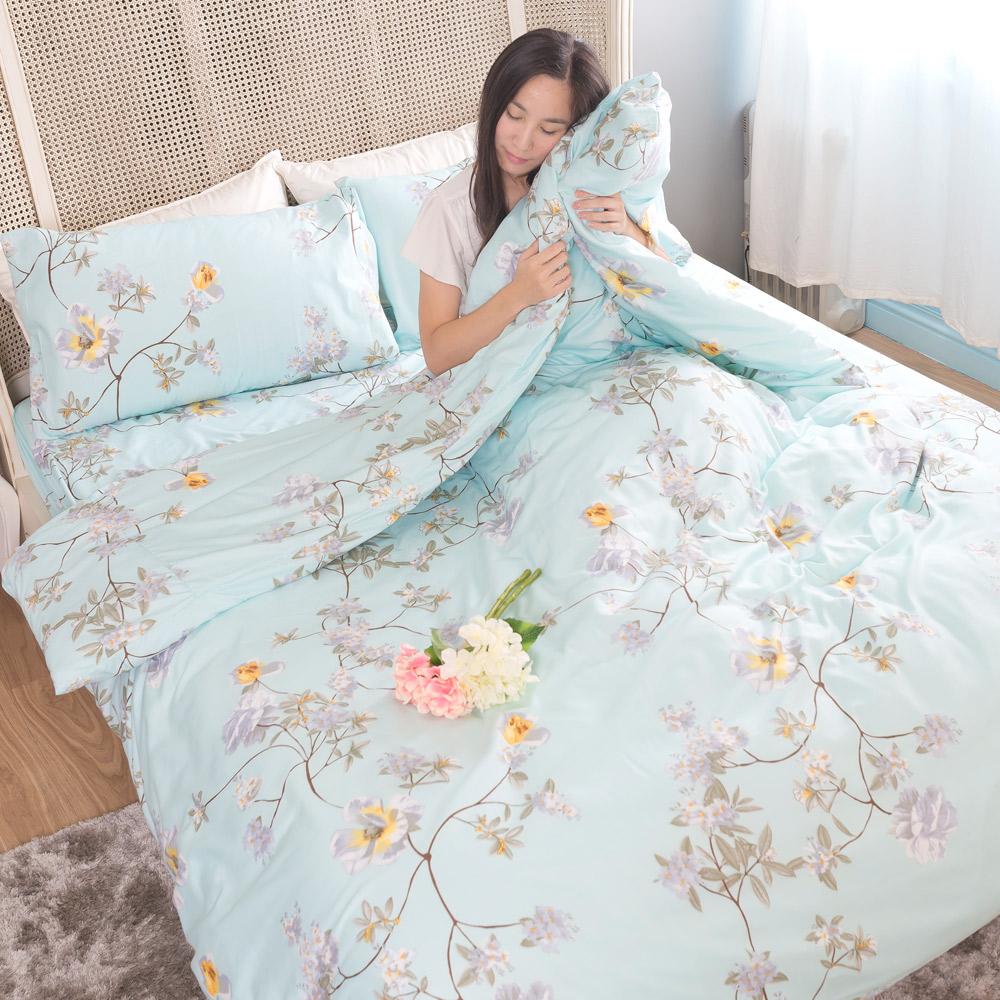 吸濕排汗系列SG 使用3M藥劑處理細緻柔絲綿 雙人床包涼被四件組 芷蘭花開