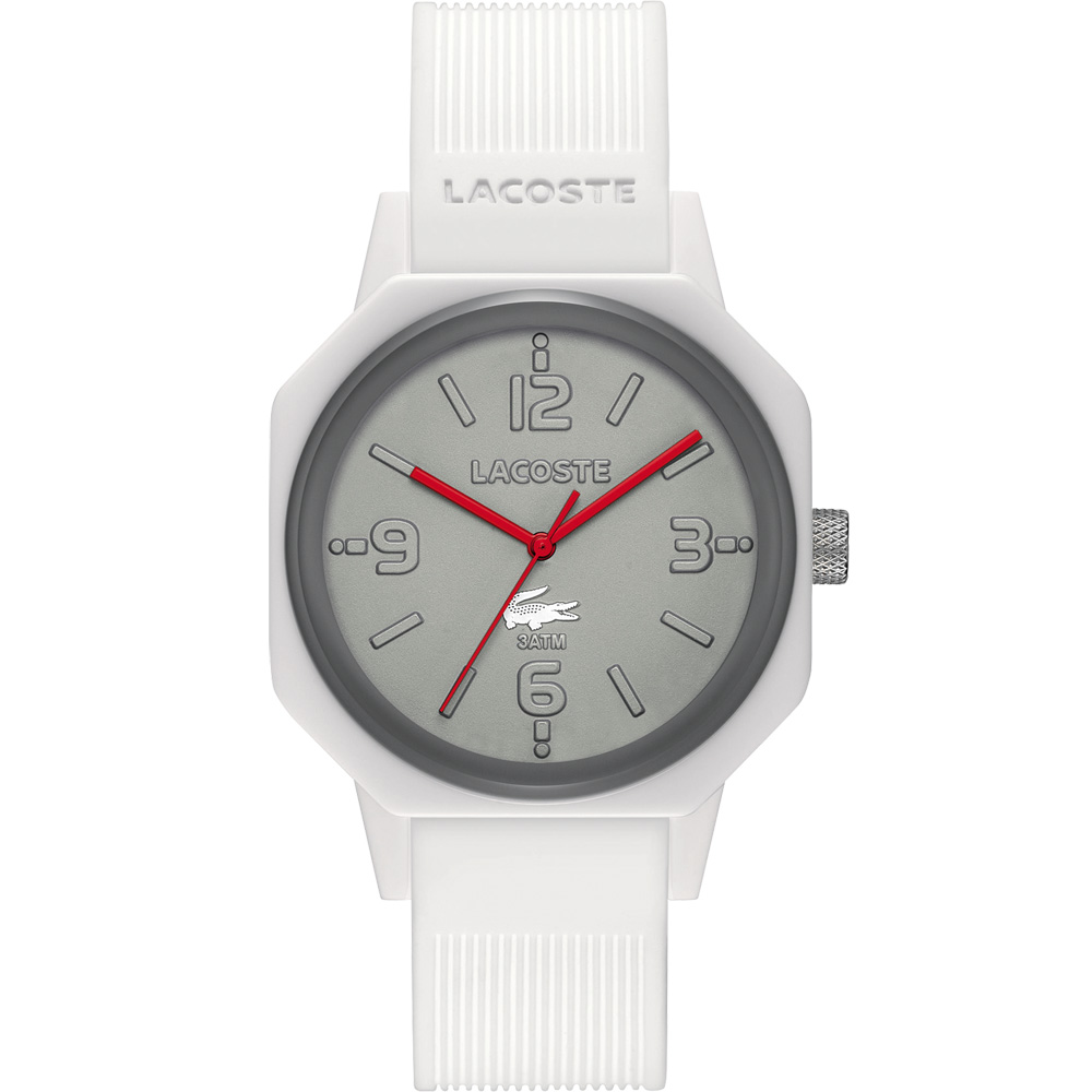Lacoste 80週年Unexpected系列紀念腕錶-灰/白/42mm