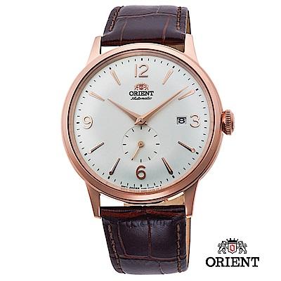 ORIENT 東方錶 DATEⅡ機械錶 玫瑰金白面 皮帶款 -40.5mm