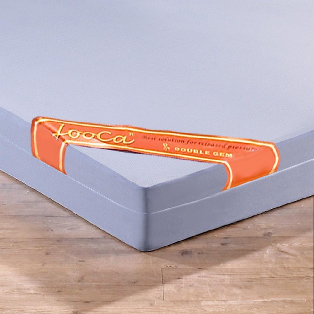 LooCa 吸濕排汗全平面8cm記憶床墊-雙人加大6尺