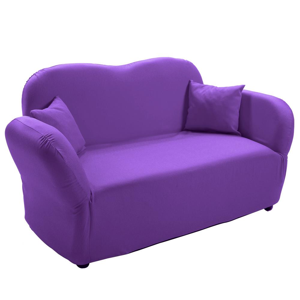 【四季良品】甜蜜戀人高彈力沙發(紫色版)