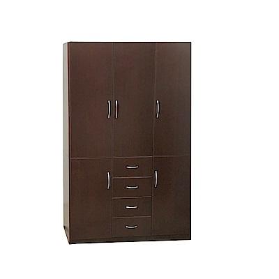 品家居 瑪丹4.2尺環保塑鋼四抽衣櫃(四色)-125x62.5x198cm-免組