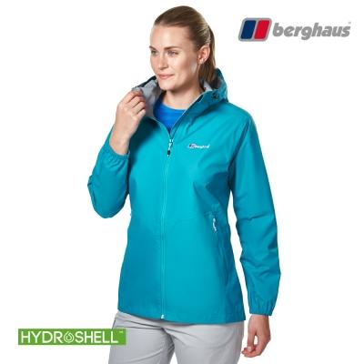【Berghaus貝豪斯】女款HS輕量防水透氣連帽外套H22FS6瓦藍