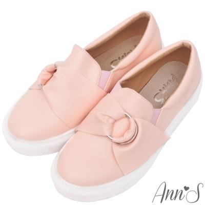 Ann-S小步舞圓環蝴蝶結厚底懶人鞋-粉