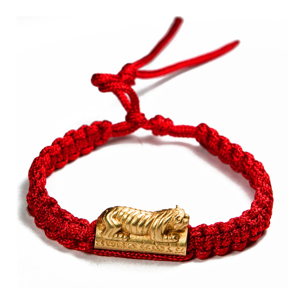 A1寶石  正宗泰國咬錢虎手環-綁紅繩中性款(含開光加持)