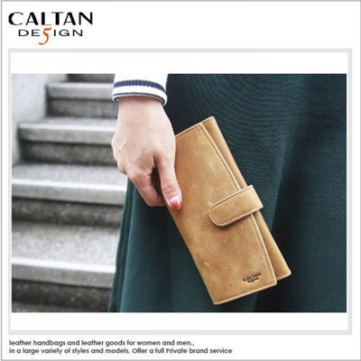CALTAN - 女用OL開運時尚曲線長夾 - 1850ht