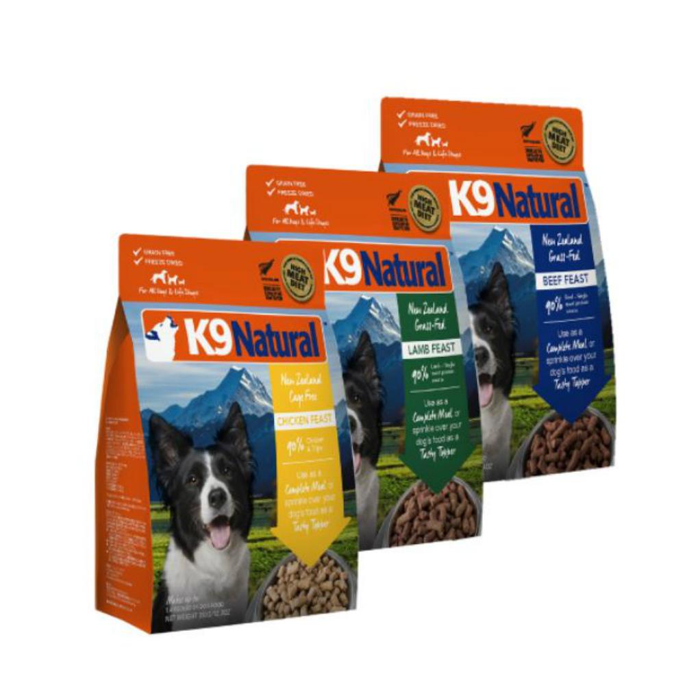 紐西蘭 K9 Natural 狗狗生食餐 (冷凍乾燥) 500G三件組