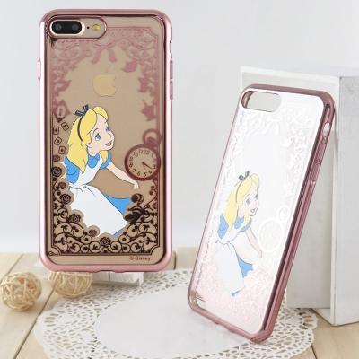 Disney 迪士尼iPhone 8/7 Plus(5.5)電鍍彩繪保護套-公主系列-愛麗絲
