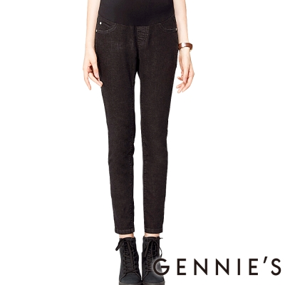 Gennies奇妮-率性時尚顯瘦孕婦牛仔褲(T4C09-黑)