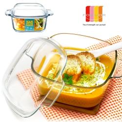 法國FORUOR 烤箱微波兩用 耐熱玻璃調理鍋1500ml(8H)