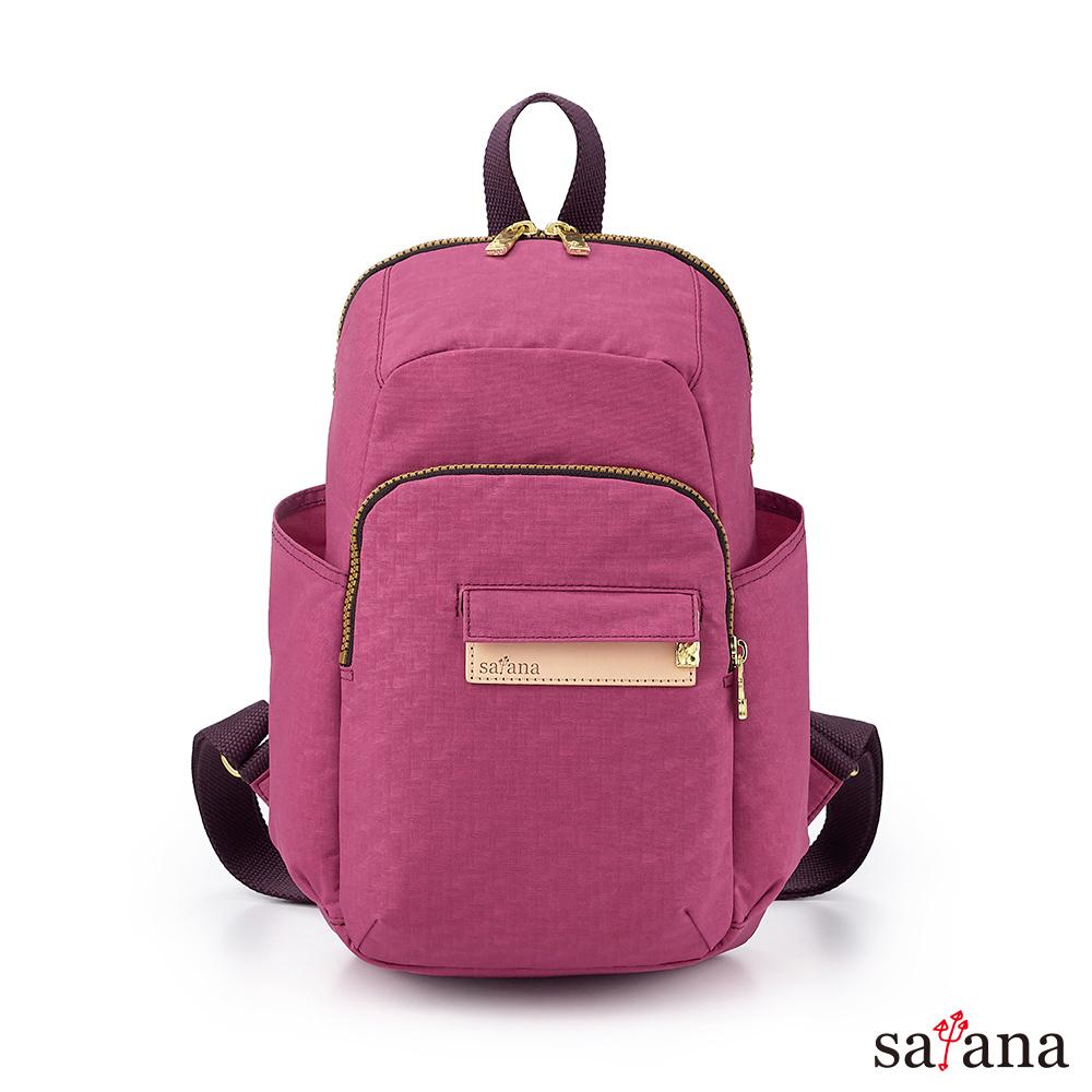 satana - Soldier 探險趣後背包 - 霧紫紅