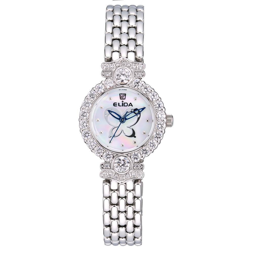 Elida 蝶舞系列晶鑽時尚腕錶-27mm