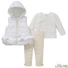 Little Me 白色金點點背心+上衣褲子套裝3件組