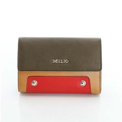 義大利BGilio -個性時尚配色中夾 -橄欖綠2253.306-08