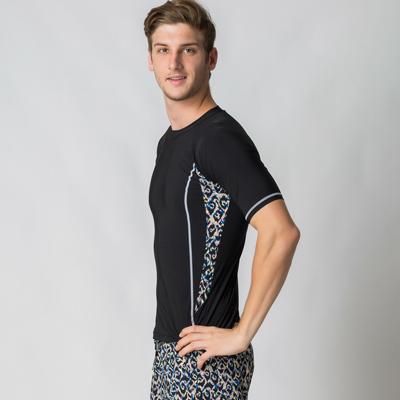 澳洲Sunseeker泳裝時尚男士衝浪短袖上衣-黑
