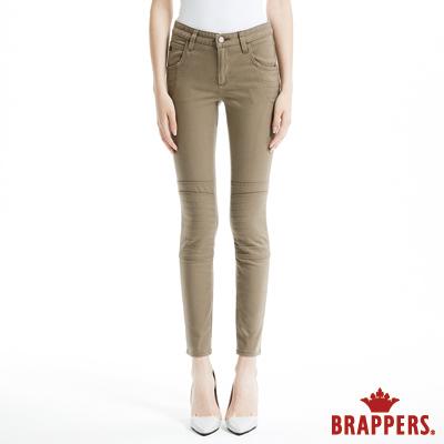 BRAPPERS 女款 AC-Cargo系列-女用彈性中腰窄管褲-綠