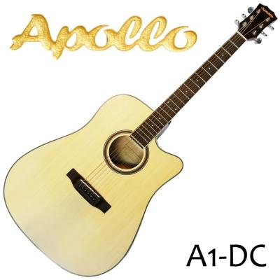 APOLLO A1~DC 缺角民謠吉他 原木色款