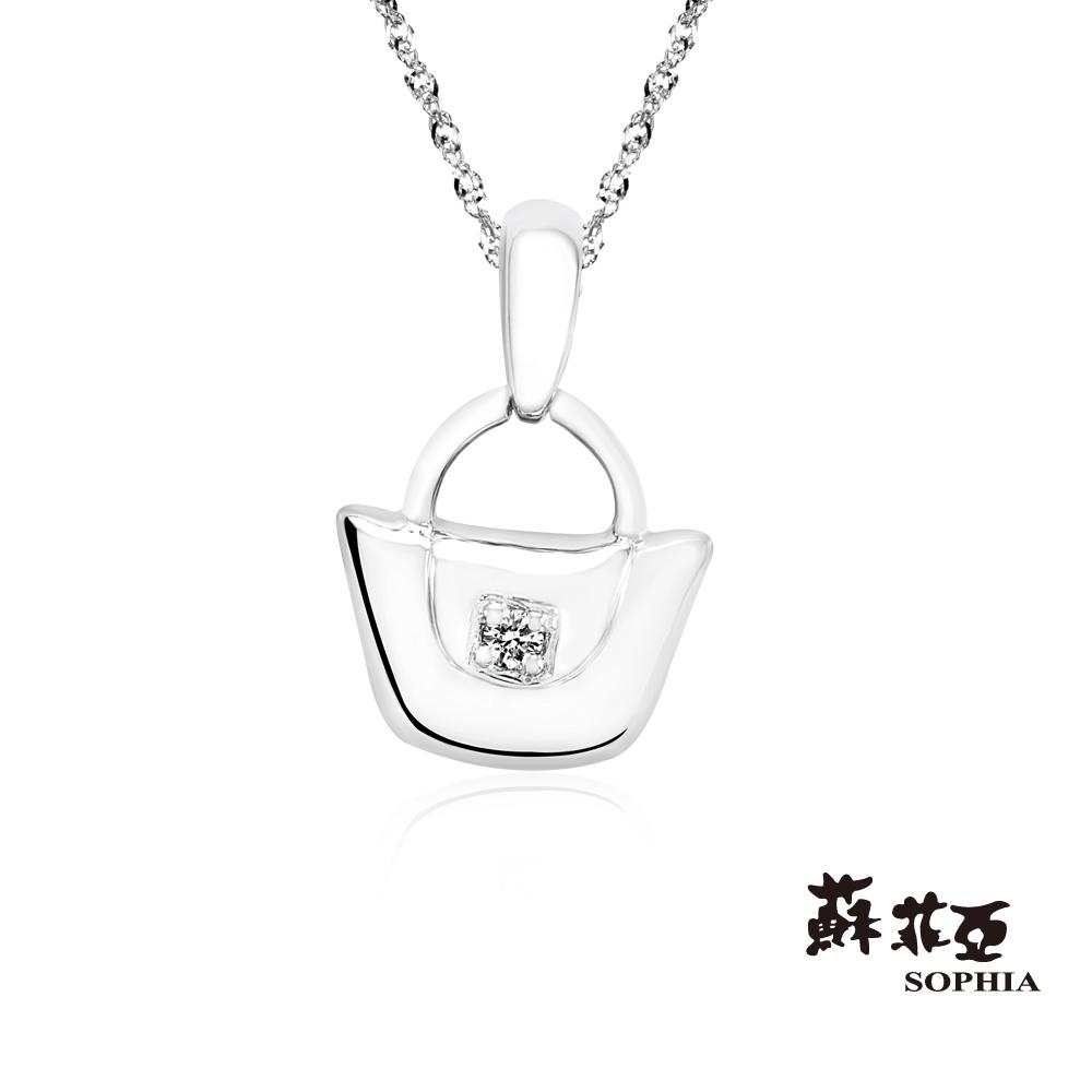 蘇菲亞SOPHIA 鑽鍊-愛的包包鑽石項鍊