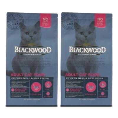 BlackWood 柏萊富 特調成貓亮毛配方(雞肉+米) 4 磅  1 . 8 公斤 X  2 包