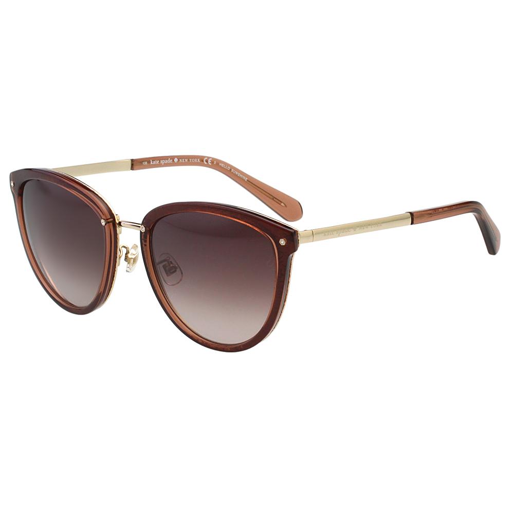 Kate Spade- 時尚復古 太陽眼鏡(咖啡色)