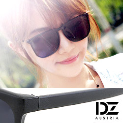 DZ 經典韓款 抗UV造型太陽眼鏡墨鏡(霧黑系)