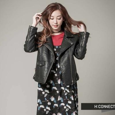 H-CONNECT-韓國品牌-女裝-多層次印花細肩
