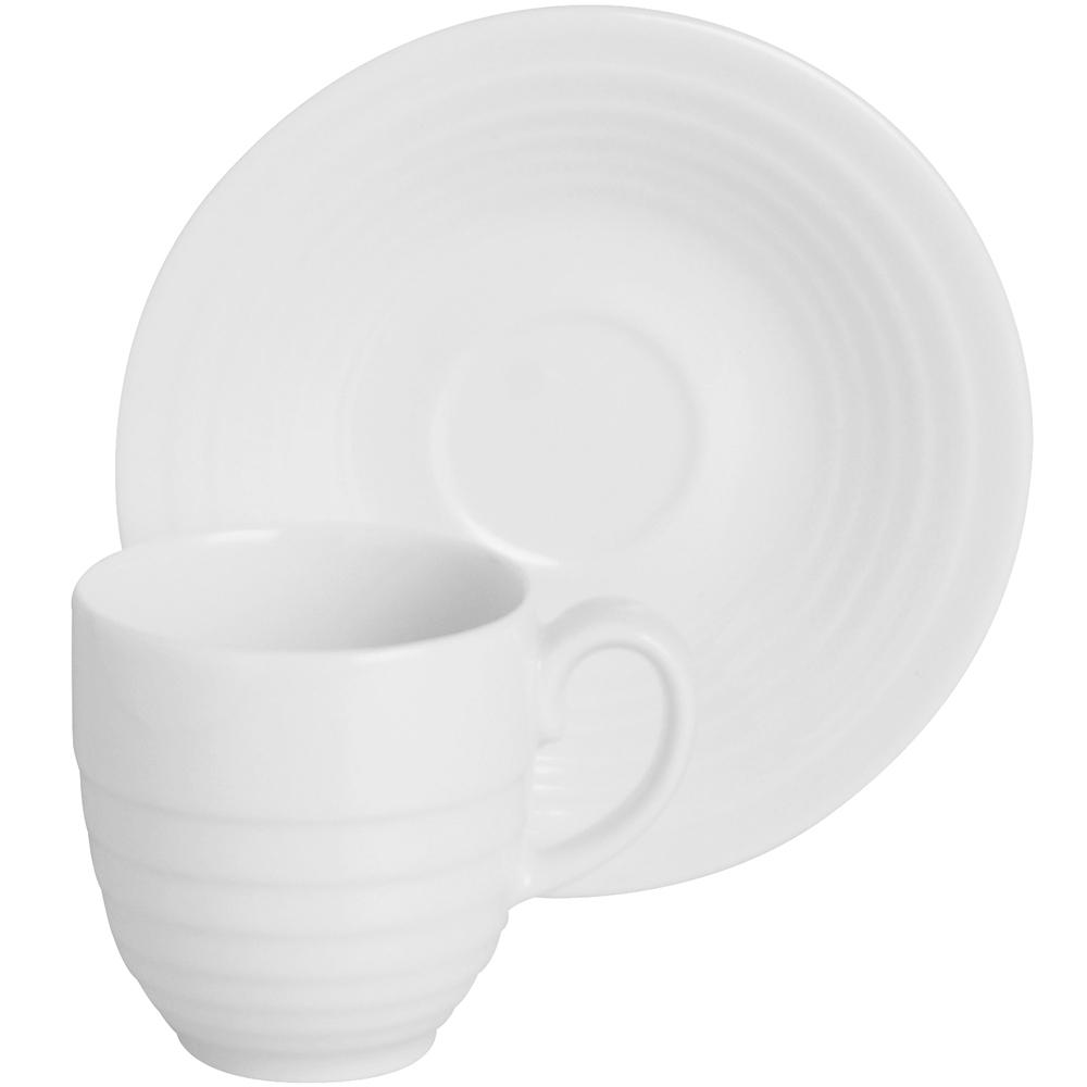 EXCELSA Ring瓷製咖啡杯碟組(白80ml)