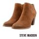 STEVE MADDEN-麂皮粗跟踝靴-個性