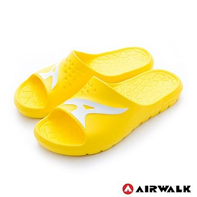 美國AIRWALK - 舒適柔軟輕盈AirJump拖鞋-黃色