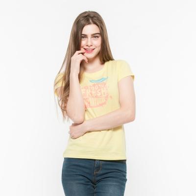 Hang Ten - 女裝 - 有機棉 新鮮水果印圖T-Shirt - 黃