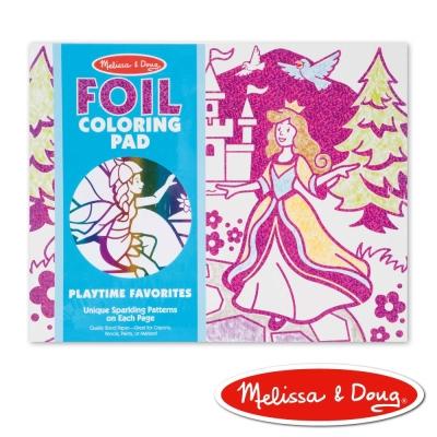美國瑪莉莎 Melissa & Doug 閃亮金銀箔紙繪圖本 - 女孩兒最愛