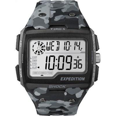 TIMEX 天美時EXPEDITION SHOCK戶外系列多功能電子腕錶-灰迷彩-50mm