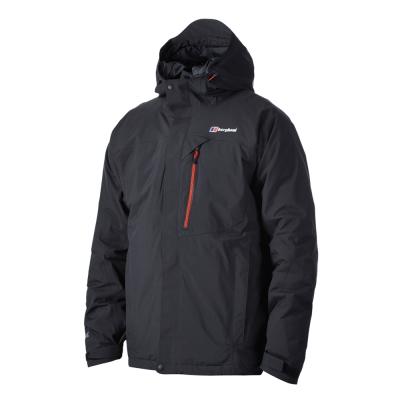 【Berghaus貝豪斯】男款GT防水保暖纖維外套H22M08-黑