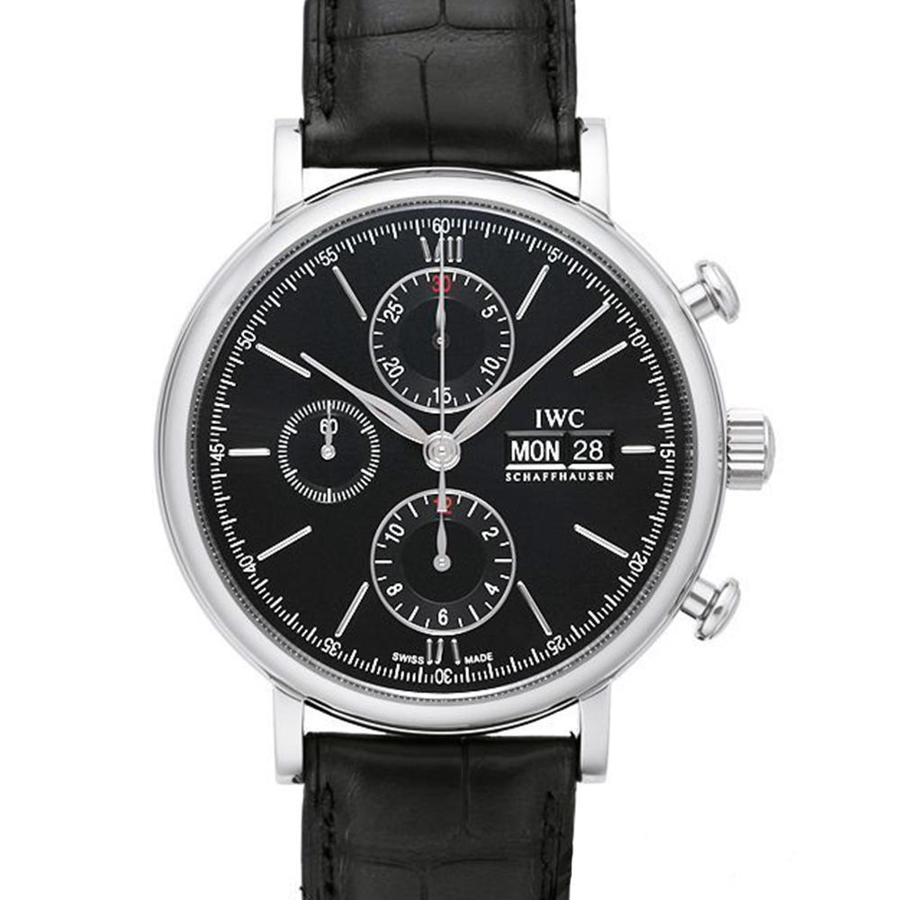 IWC 萬國錶 Portofino柏濤菲諾黑面計時腕錶(IW391008)-42mm