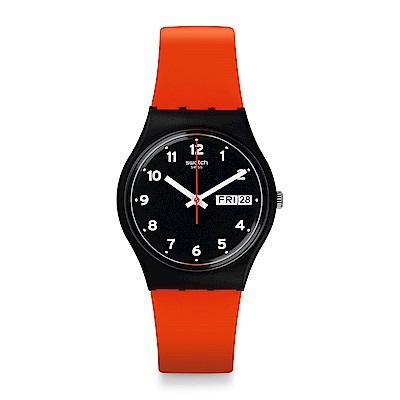 Swatch 原創系列 RED GRIN 紅色笑臉手錶
