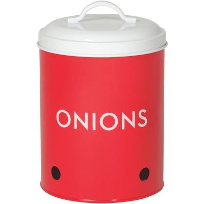 NOW-洋蔥透氣收納罐-紅