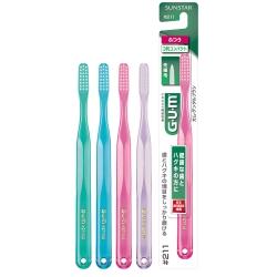GUM牙周護理牙刷1支抗菌纖細毛-小頭中毛#211(顏色隨機)