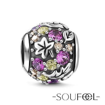 SOUFEEL索菲爾 925純銀珠飾 秋葉 串珠