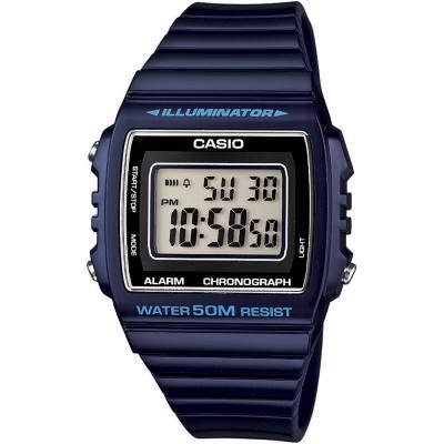 CASIO 超亮LED大螢幕方形數位錶((W-215H-2A))-紳士藍/40mm