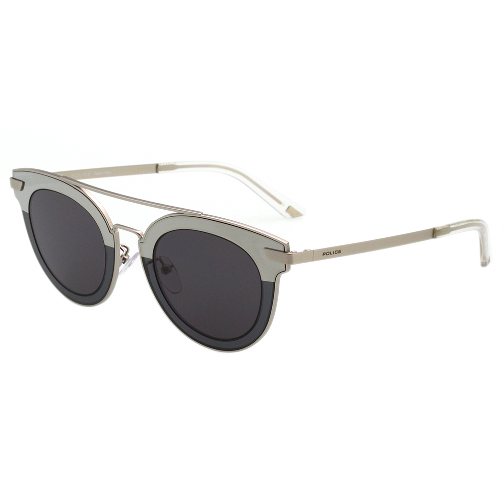 POLICE - 水銀面拼接 太陽眼鏡 (銀色)SPL349-0581