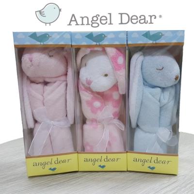 【彌月禮】美國 Angel Dear 動物嬰兒安撫巾禮盒版-小兔兔系列